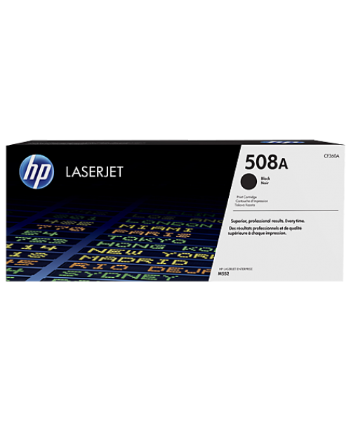 HP 508A Black Original LaserJet Toner Cartridge(CF360A)
